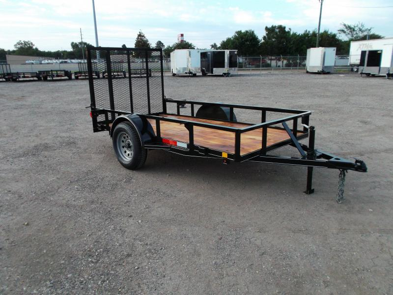 2021 TTC 5x8 Utility Trailer / Wrap Tongue / 4ft Ramp Gate