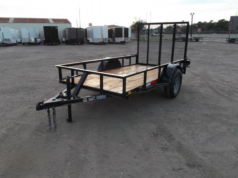 2021 TTC 5x8 Utility Trailer / Wrap Tongue / 4ft Ramp Gate