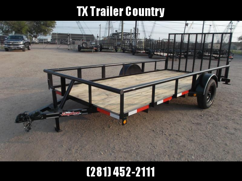 2021 Longhorn Trailers 77x14 Single Axle Utility Trailer / Pipetop / 4ft Heavy Duty Ramp Gate
