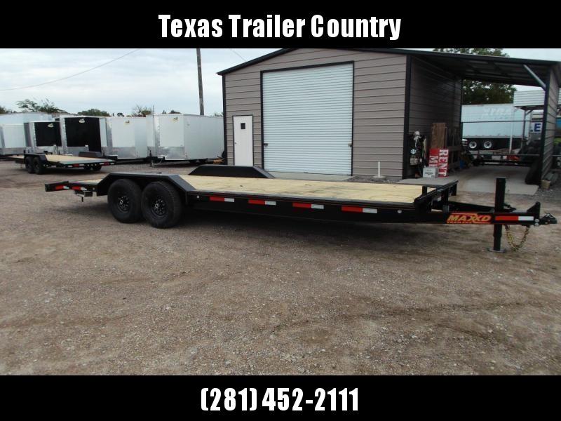 2021 Maxxd 102x24 14K H6X Car Hauler / Flatbed Trailer / Equipment Hauler / Powder Coated / 7K Axles / Drive Over Fenders
