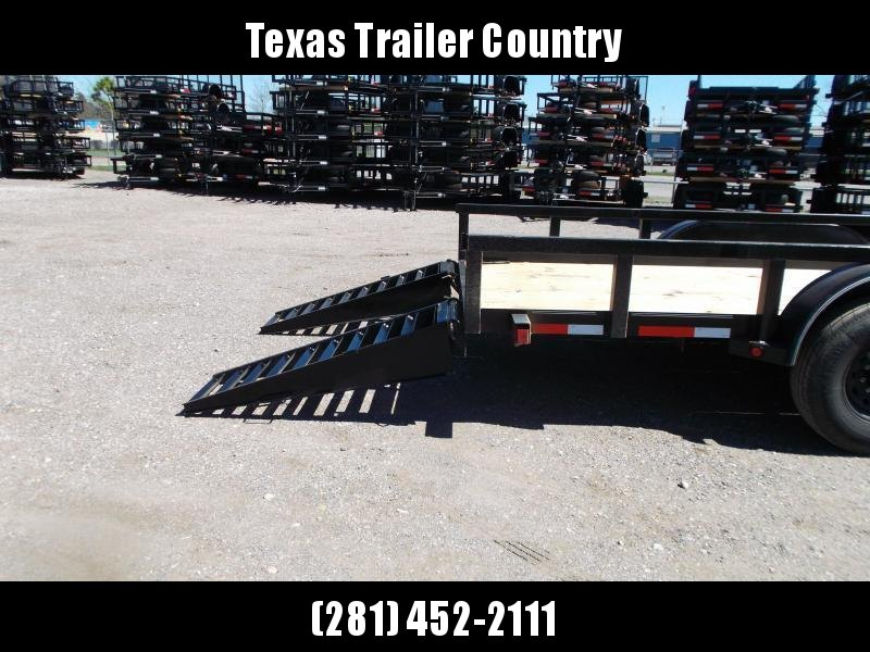 """2021 Longhorn Trailers 83x20 Utility Trailer / 7000# Axles / 3"""" Square Tubing / Heavy Duty Stand Up Ramps"""