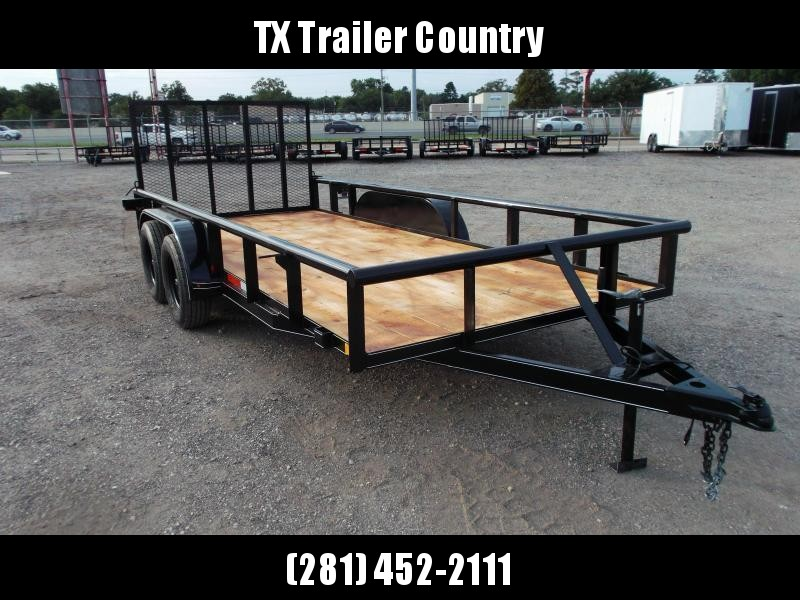 2021 TTC 77x16 Tandem Axle Utility Trailer / Pipetop / 4ft Ramp Gate / Electric Brakes
