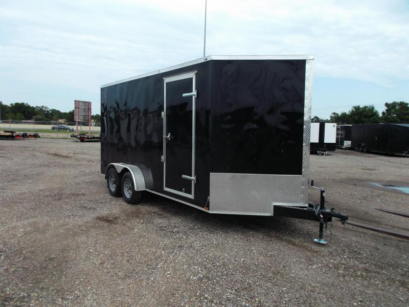 "2021 Prime 7x16 Tandem Axle Cargo Trailer / Enclosed Trailer / 6'6"" Interior Height / Ramp / Side Door / LEDs"