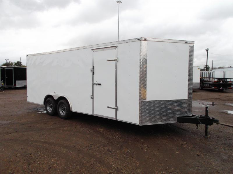 2021 Texas Select 8.5x20 Tandem Axle Cargo Trailer / Car Hauler / 5200# Axles / Heavy Duty Ramp / LEDs