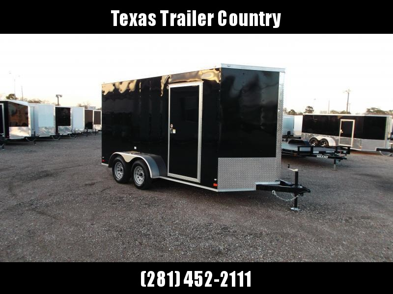 2021 Covered Wagon Trailers 7x14 Tandem Axle Cargo Trailer / Enclosed Trailer / 7ft Interior / Ramp / LEDs / Semi-Screwless Exterior Skin