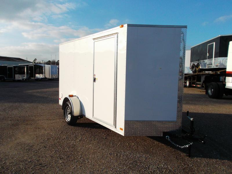 2021 Covered Wagon Trailers 6x12 Single Axle Cargo Trailer / Enclosed Trailer / Ramp / 6ft Interior Height / RV Side Door / 1 Piece Roof