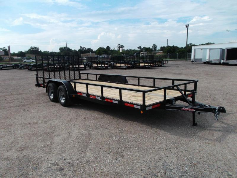 2021 Longhorn Trailers 83x20 Utility Trailer / 4ft Ramp Gate / Electric Brakes