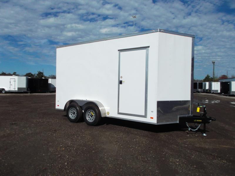 "2021 Covered Wagon Trailers 7x14 Tandem Axle Cargo / Enclosed Trailer / 7'6"" Interior Height / Ramp / LEDs"