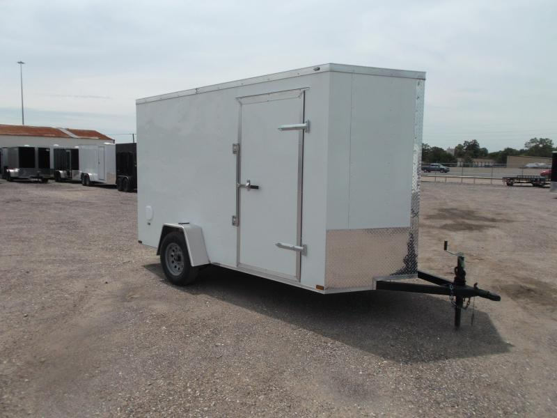 "2021 Prime 6x12 Single Axle Cargo Trailer / Enclosed Trailer / 6'6"" Interior Height / Ramp / Side Door / LEDs"