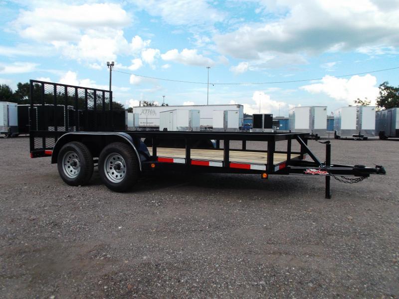 2020 Longhorn Trailers 14ft Utility Trailer w/ Heavy Duty 4ft Ramp Gate