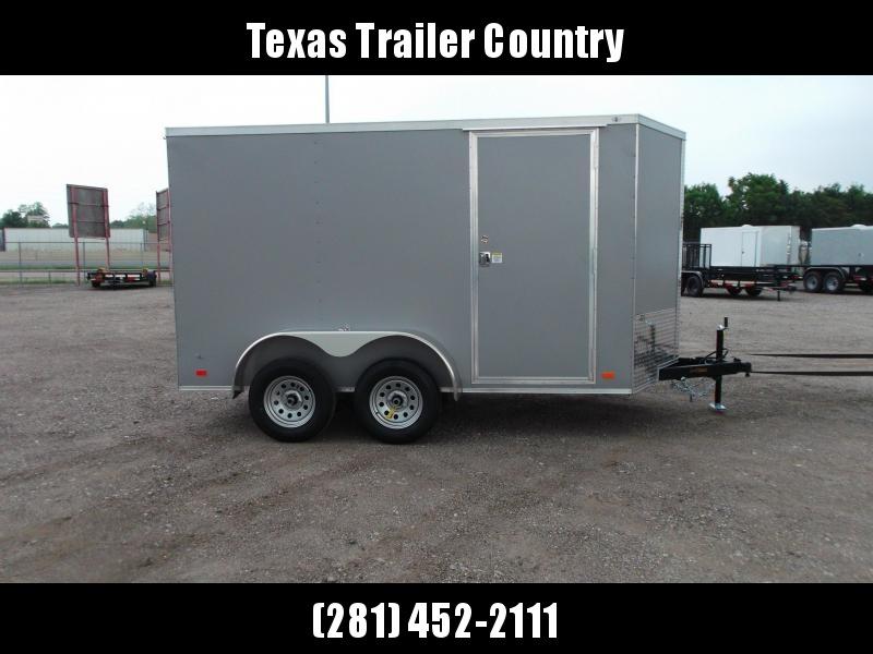 "2021 Covered Wagon Trailers 6x12 Tandem Axle Cargo Trailer / Enclosed Trailer / 6'6"" Interior / Ramp / RV Door / LEDs / Semi-Screwless Exterior / Silver Powder Coated Skin"