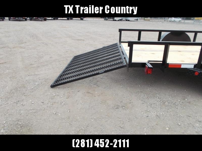 2022 Longhorn Trailers 77x12 Single Axle Utility Trailer w/ Heavy Duty 4ft Ramp