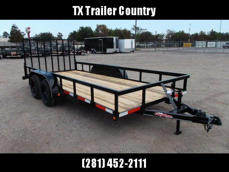 2021 Longhorn Trailers 16ft Utility Trailer / 4ft Heavy Duty Ramp / Electric Brakes