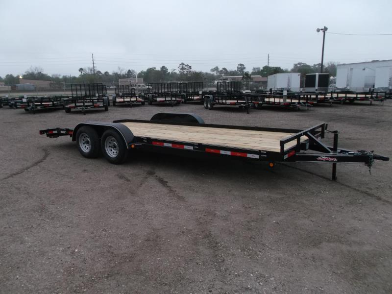 2021 Longhorn Trailers 20ft 7K Car Hauler / Racing Trailer / 2ft Dovetail / 5ft Ramps / Brakes