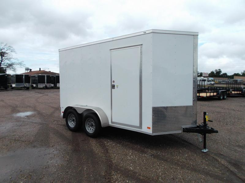 2021 Covered Wagon Trailers 6x12 Tandem Axle Cargo Trailer / Enclosed Trailer / 7ft Interior / Ramp Gate / LEDs / RV Side Door / Semi-Screwless Exterior