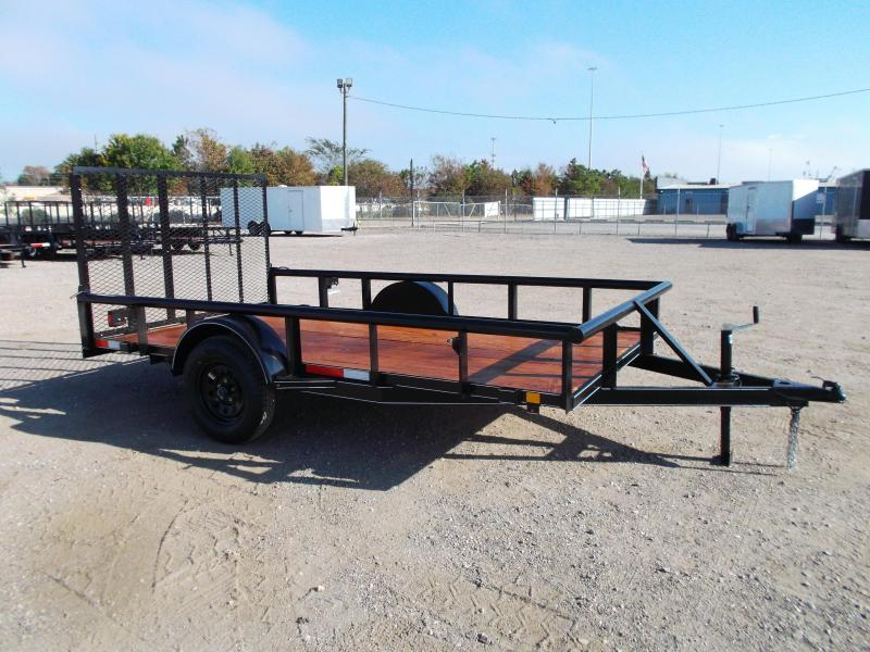 2021 TTC 77x12 Single Axle Utility Trailer / Wrap Tongue / 4ft Ramp Gate / PIPETOP