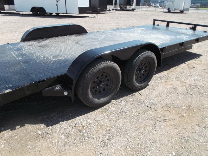 2021 Maxxd 83x20 Steel Deck Car Hauler / Racing Trailer / Powder Coated / 5ft Ramps / 4ft Dovetail / Adj Coupler / D-Rings / LED's