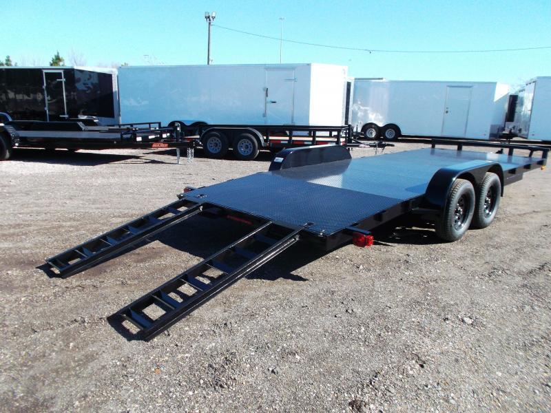 2021 Maxxd 83x20 Steel Deck Car Hauler / Racing Trailer / Powder Coated / 5ft Ramps / 4ft Dovetail / Adj Coupler