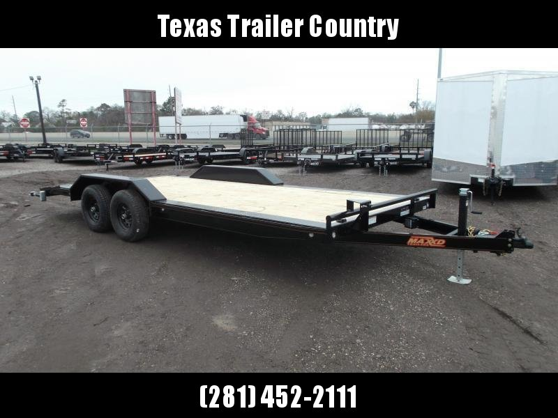2021 Maxxd 102x20 H5X 10K Car Hauler / Racing Trailer / Flatbed / Drive Over Fenders / 5200# Axles / Powder Coated / LEDs