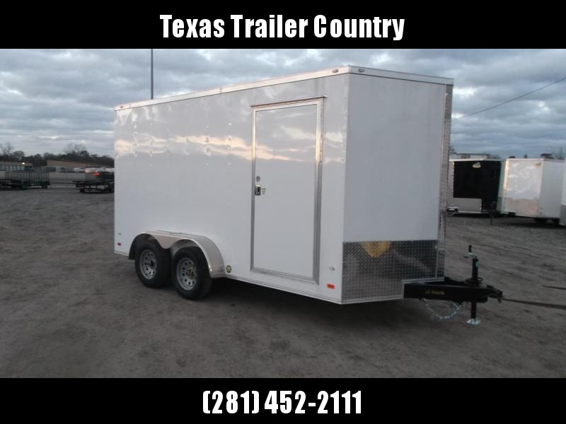2021 Covered Wagon Trailers 7x14 Tandem Axle Cargo / Enclosed Trailer / 7ft Interior / Ramp / RV Side Door / LEDs / Semi-Screwless Exterior