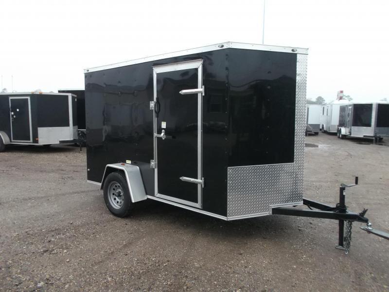 "2021 Texas Select 6x10 Single Axle Cargo Trailer / Enclosed Trailer / 6'3"" Interior / Ramp / Side Door / LEDs"