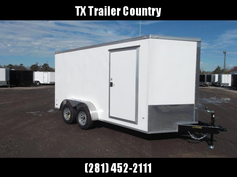 SPECIAL - 2022 Covered Wagon Trailers 7x14 Tandem Axle Cargo Trailer / Enclosed Trailer / Ramp / RV Side Door / LEDs / Semi-Screwless Exterior
