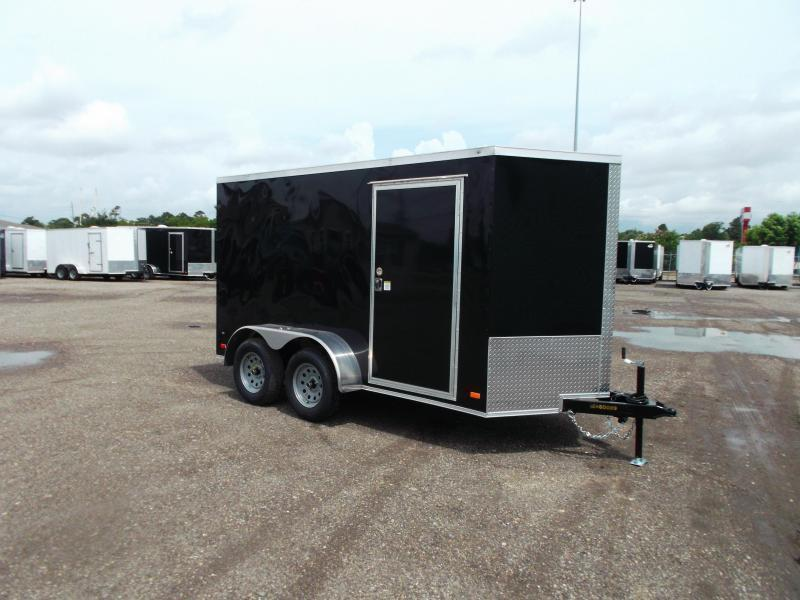 2021 Covered Wagon Trailers 6x12 Tandem Axle Cargo Trailer / Enclosed Trailer / Ramp / RV Side Door / LEDs / Semi-Screwless Exterior
