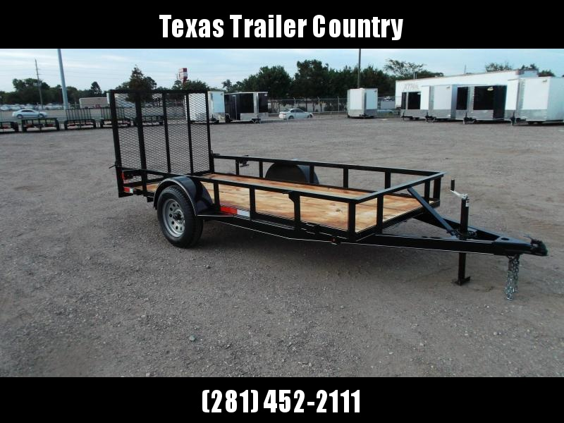 2021 TTC 5x12 Utility Trailer / Wrap Tongue Upgrade / 4ft Ramp Gate