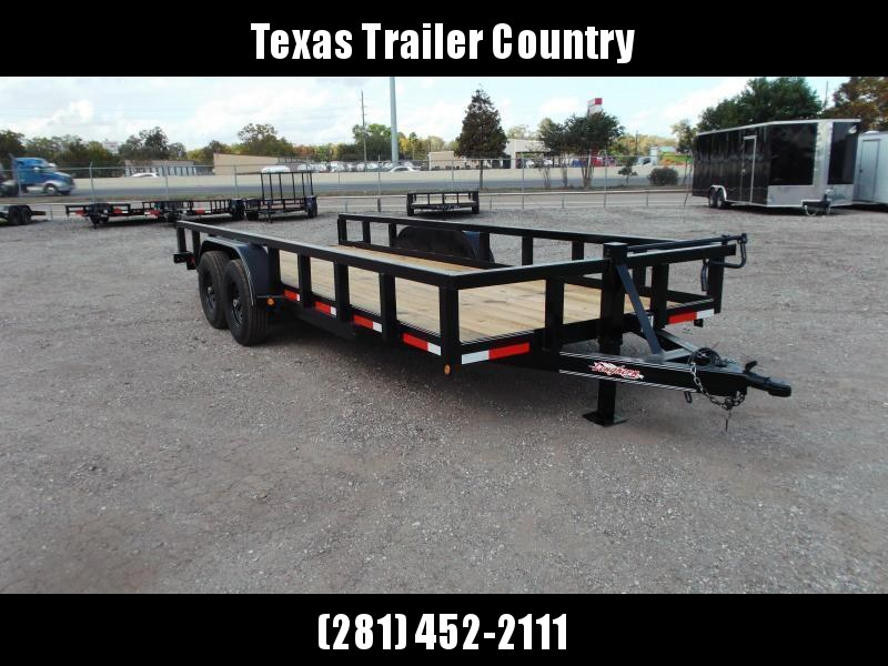 """2021 Longhorn Trailers 83x20 Utility Trailer w/ 7000# Axles / 3"""" Square Tubing / 5ft Ramps"""
