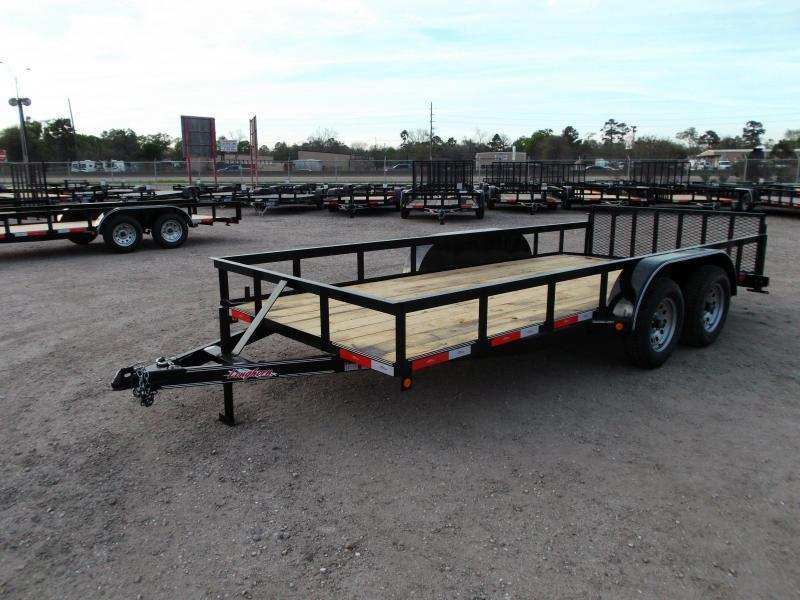 2021 Longhorn Trailers 16ft Utility Trailer / ATV Trailer w/ 2ft Dovetail / 2ft Ramp Gate