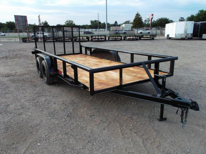 2021 TTC 77x16 Tandem Axle Utility Trailer / Pipetop / 4ft Ramp Gate