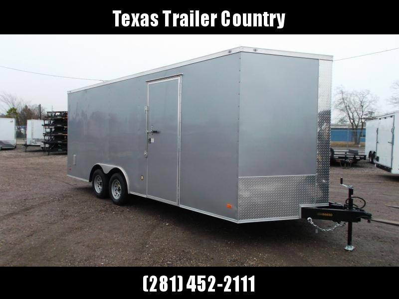 2021 Covered Wagon Trailers 8.5x20 Tandem Axle Cargo / Enclosed Trailer / 7ft Interior Height / 5200# Axles / Barn Doors / RV Side Door / LEDs / Semi-Screwless Exterior / Silver Powder Coated Skin