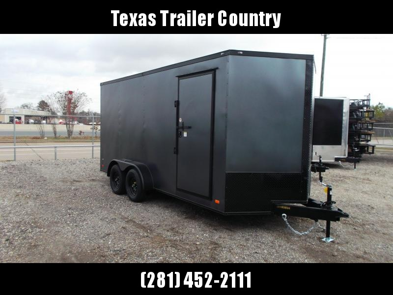 2021 Covered Wagon Trailers 7x14 Tandem Axle Cargo Trailer / Enclosed Trailer / 7ft Interior / Ramp / RV Door / LEDs / Semi-Screwless Exterior / Silver Vein Powder Coated Skin / Black Out Package