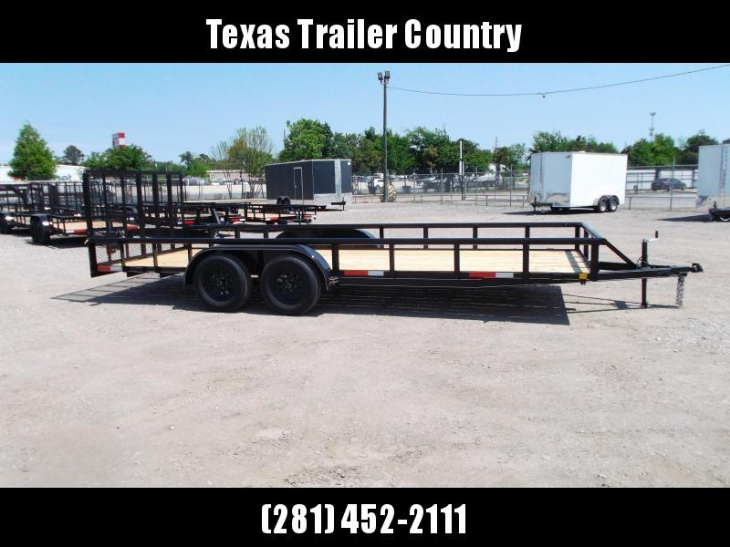2021 TTC 83x20 Utility Trailer / Lowboy Trailer / 4ft Ramp Gate / Electric Brakes / Pipetop