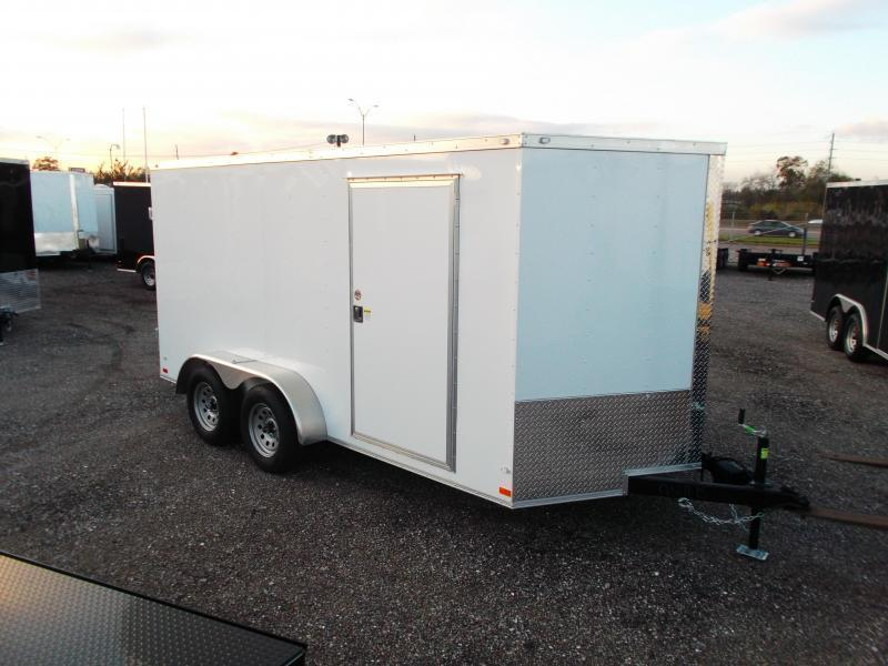 2020 Covered Wagon Trailers 7x14 Tandem Axle Cargo Trailer / Enclosed Trailer / Barn Doors / RV Side Door / LEDs