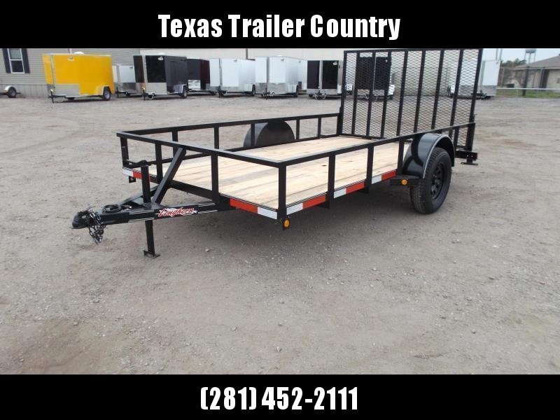 2021 Longhorn Trailers 77x12 Single Axle Utility Trailer w/ Heavy Duty 4ft Ramp
