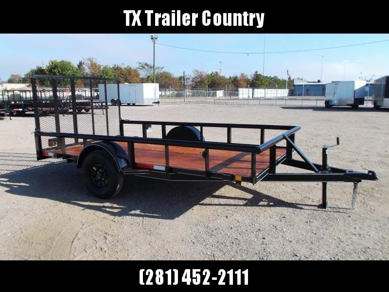 2021 TTC 77x12 Single Axle Utility Trailer / Wrap Tongue / 4ft Ramp Gate / PIPETOP