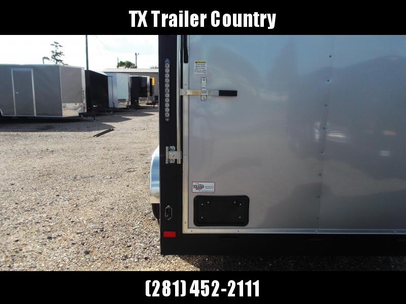 "2022 Covered Wagon Trailers 7x16 Tandem Axle Cargo Trailer / Enclosed Trailer / 6'3"" Interior / Ramp / RV Door / LEDs / Silver Semi Screwless Exterior"