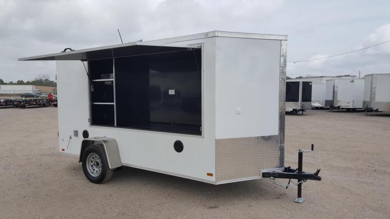 2020 Covered Wagon Trailers 6x12 Tailgate Trailer w/ Stereo Package