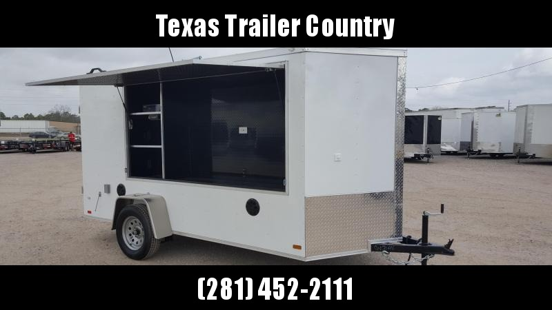 2021 Covered Wagon Trailers 6x12 Tailgate Trailer w/ Stereo Package