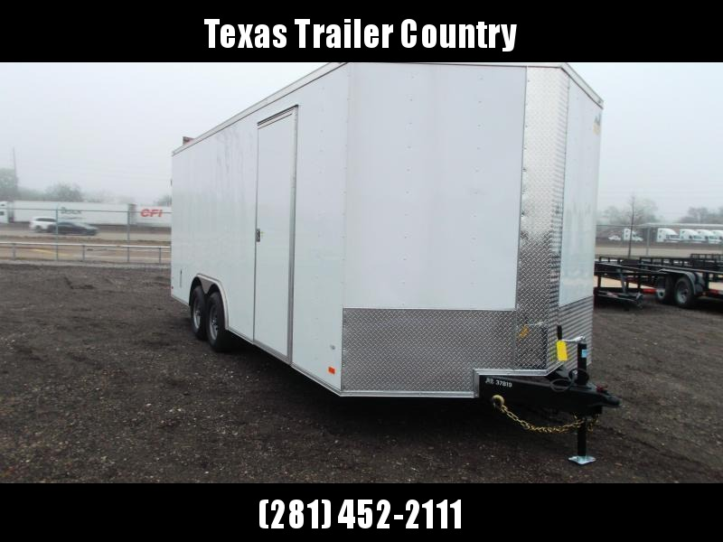 2021 Covered Wagon Trailers 8.5x20 Tandem Axle Cargo / Enclosed Trailer / Barn Doors / 7ft Interior Height / 5200# Axles / LEDs / Semi-Screwless Exterior