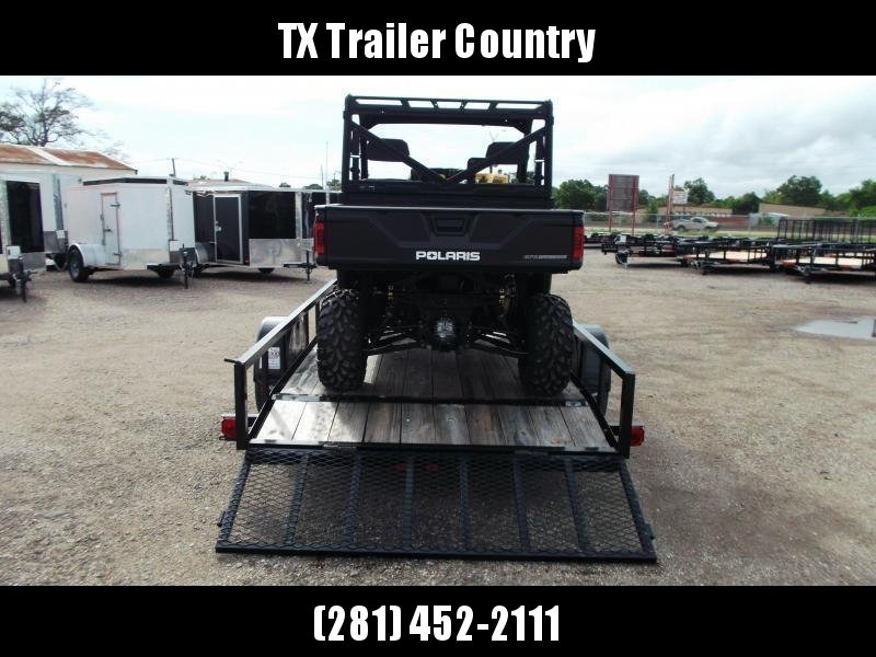 2021 Longhorn Trailers 77x12 Single Axle Utility Trailer / 2ft Dovetail / 2ft Ramp Gate