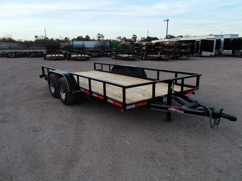 2021 Longhorn Trailers 83x16 Utility Trailer / 5200# Axles / 5ft Slide Out Ramps / 7K Jack / Electric Brakes