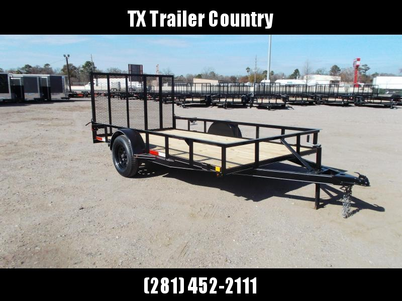 SPECIAL - 2021 TTC 77x12 Single Axle Utility Trailer / Wrap Tongue / 4ft Ramp Gate