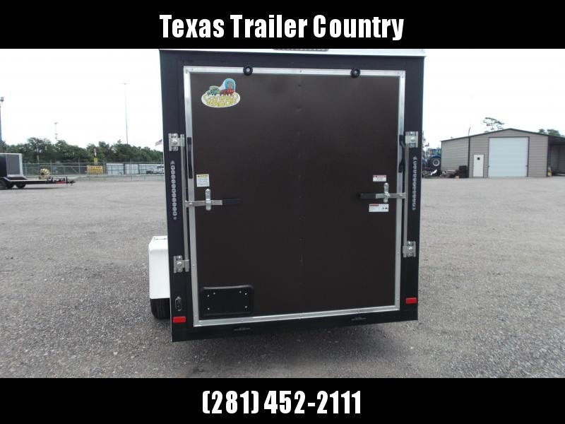 """2021 Covered Wagon Trailers 6x12 Single Axle Cargo Trailer / Enclosed Trailer / 6'3"""" Interior / Ramp Gate / LEDs / RV Side Door / Copper Vein Powder Coated Semi-Screwless Exterior"""