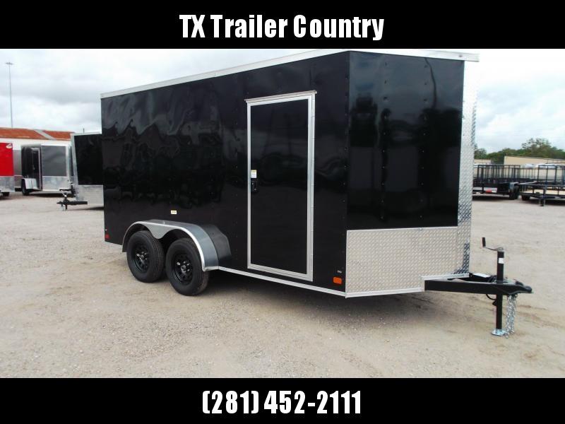 SPECIAL - 2022 Peach Cargo 7x14 Tandem Axle Cargo Trailer / Enclosed Trailer / 7ft Interior / Ramp / LEDs / RV Side Door
