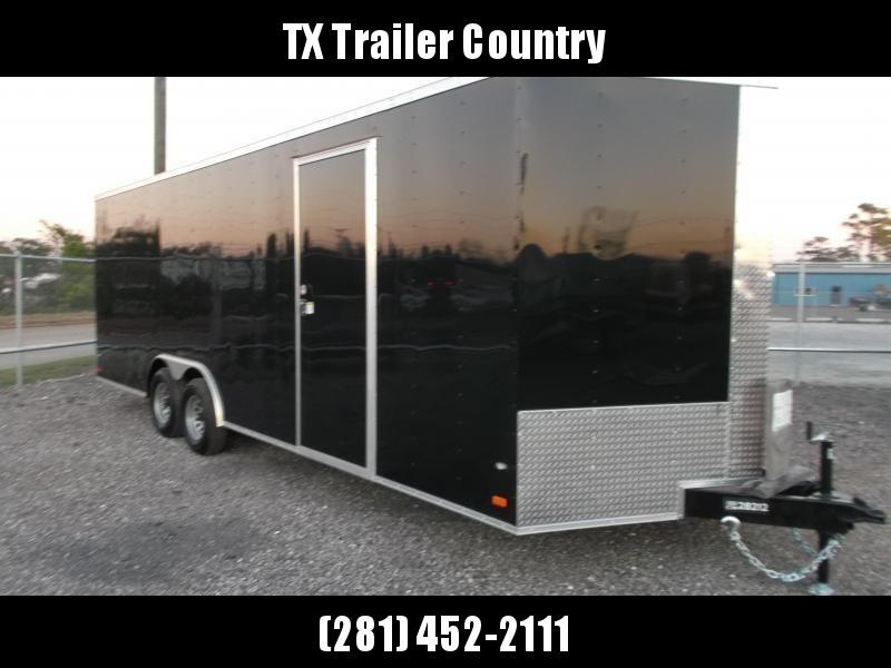 "2022 Covered Wagon Cargo 8.5x24 Tandem Axle Cargo / Enclosed Trailer / 6'6"" Interior Height / 5200# Axles / Heavy Duty Ramp / LED's / Semi-Screwless Exterior"