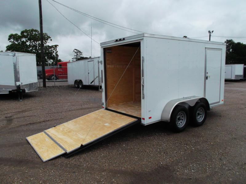 "2021 Covered Wagon Trailers 6x12 Tandem Axle Cargo Trailer / Enclosed Trailer / 6'6"" Interior / Ramp / RV Door / LEDs"