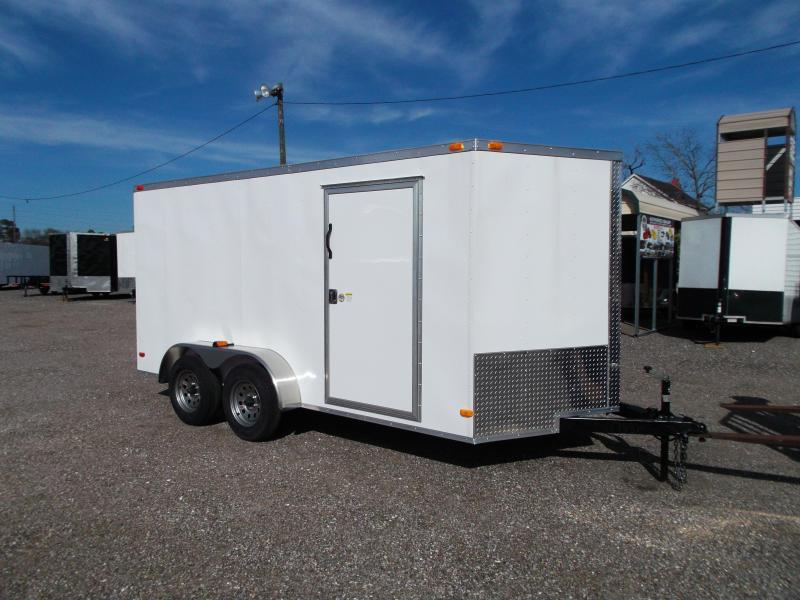2021 Covered Wagon Trailers 7x14 Cargo Trailer / Enclosed Trailer / Motorcycle Trailer / Ramp / (8) D-rings