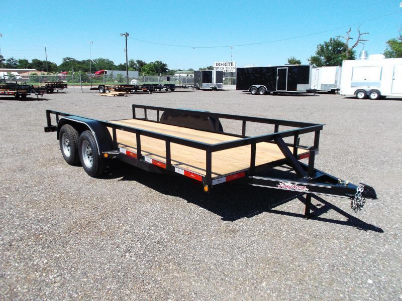 2021 Longhorn Trailers 16ft Tandem Axle Utility Trailer